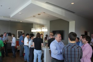 Networking before the pitches