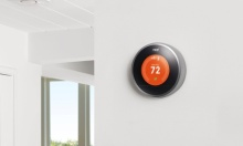The Nest learning thermostat is one of the new products acquired by Google's purchase of the smart home company. Photograph: Nest Labs Inc./EPA